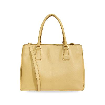 saffiano leather bag yellow